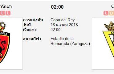 ทีเด็ดฟุตบอล โกปา เดล เรย์ สเปน [D2-14]เรอัล ซาราโกซ่า (-0.5) คาดิส[D2-20]